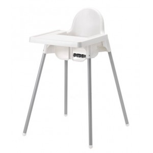 Antilop Highchair with tray - White