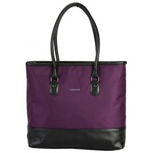 "Kingsons KS3128PU Classy Series 15.6"" Purple Ladies Shoulder Bag"