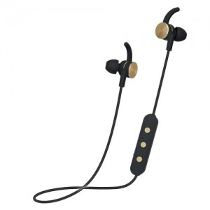 Polaroid PBE111 BLACK AND GOLD Bluetooth Earbuds