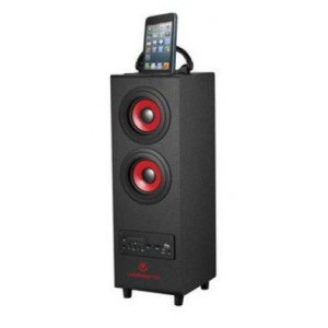 Volkano VK3006BK  Hurricane Series Black Tower Bluetooth Speaker