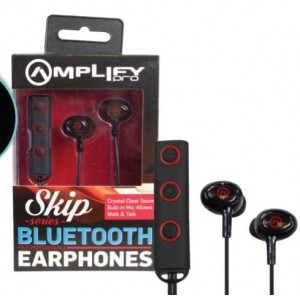 Amplify AMP1000BKRD Bluetooth Earphones with Mic