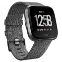 Fitbit Versa Smartwatch - Charcoal Woven Graphite (with Small and Large Bands)