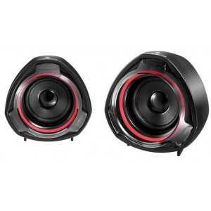Volkano VK3005BKRD  Turbine Series Black and Red 2.0 USB 2x 5W Speaker