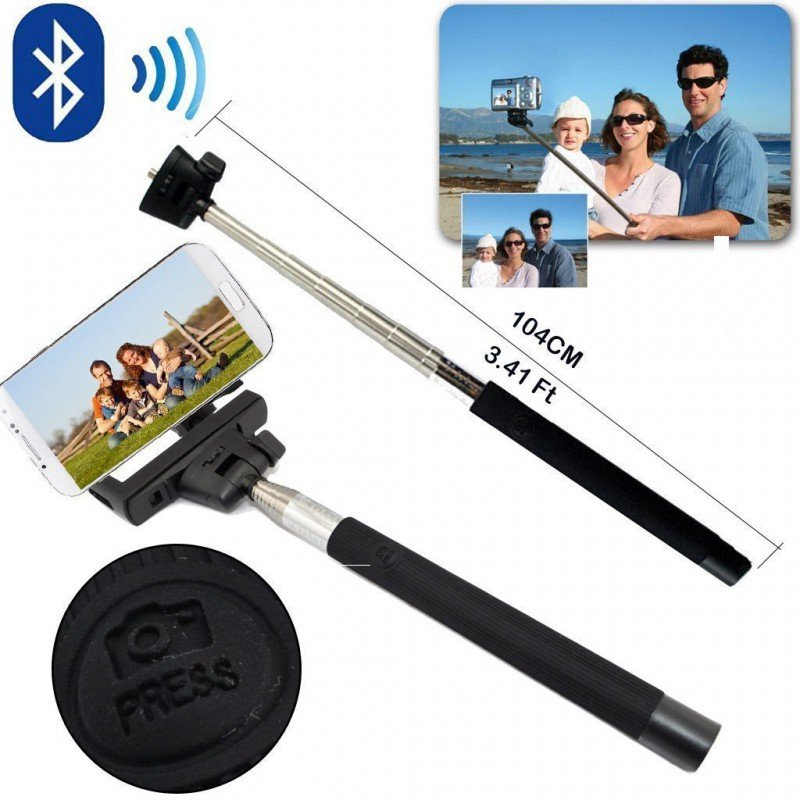 wireless bluetooth selfie stick mobile phone monopod selfie for ios android. Black Bedroom Furniture Sets. Home Design Ideas