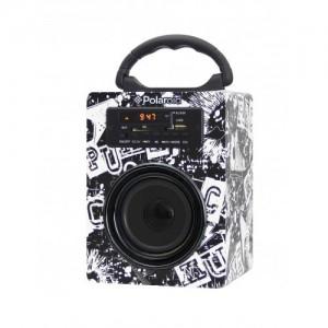 Polaroid PBS333 BLACK / WHITE Classic Bluetooth Speaker