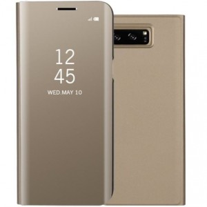 Samsung Galaxy EF-ZG950CFEGWW- Telkom S8 Clear View Standing Cover- Gold