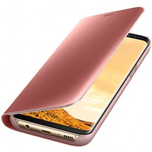 Samsung EF-ZG950CPEGWW- Telkom Galaxy S8 Clear View Standing Cover - Pink, EF-ZG950
