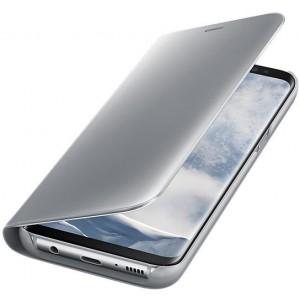 Samsung EF-ZG950CSEGWW- Telkom Galaxy S8 Clear View Standing Cover - Silver