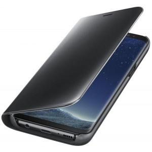 Samsung EF-ZG955CBEGWW- Telkom Galaxy S8 Plus Clear View Stand Cover Case - Black