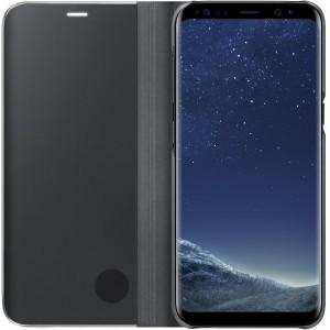 Samsung EF-ZG950CBEGWW- Telkom Galaxy S8 Clear View Standing Cover - Black