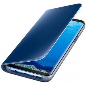 SAMSUNG EF-ZG955CLEGWW- Telkom Galaxy S8+ Clear View Standing Cover - Blue