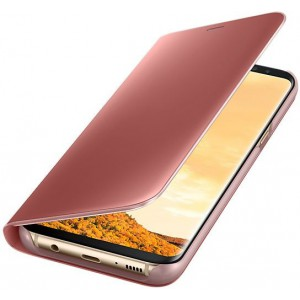 Samsung EF-ZG955CPEGWW- Telkom Galaxy S8+ Clear View Standing Cover - Pink