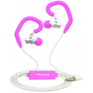 Polaroid PHP742 PINK Sports Earbuds with Built In Mic