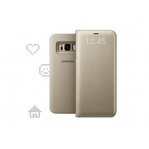 Samsung EF-NG950PFEGWW- Telkom LED View Galaxy S8 Case Gold