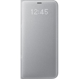Samsung EF-NG955PSEGWW- Telkom LED View Cover Flip Wallet Case for Samsung Galaxy S8+ / S8 Plus - Silver