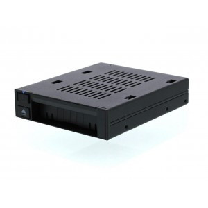 "Icy Dock MB521SP-B 2.5 inch Hot-Swap SATA / SAS HDD / SSD Dock Trayless Mobile Rack Backplane Cage for External 3.5"" Drive Bay"