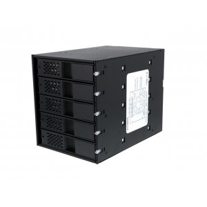 "Icy Dock MB975SP-B R1 Tray-less 5x3.5"" HDD in 3x5.25"" Bay SATA Hot Swap Rack / Cage / Module"