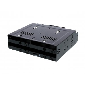 "Icy Dock MB524SP-B 4 x 2.5"" SSD Dock Trayless Hot-Swap SATA /SAS Mobile Rack For Ext 5.25"" Bay"