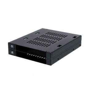 "Icy Dock MB522SP-B Dual 2.5"" SSD Dock Trayless Hot-Swap SATA / SAS Mobile Rack for Ext 3.5"" Bay"