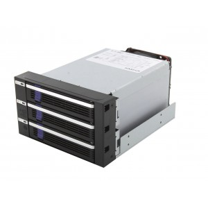 "Icy Dock MB153SP-B 3 Bay EZ-Tray 3.5"" SATA Hard Drive Hot-Swap Backplane Cage in 2x External 5.25"" Bay"