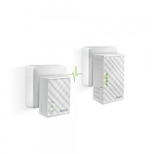 ASUS PL-N12 KIT Wi-Fi N300, AV500, 2 Ports, No Configuration Powerline Extender