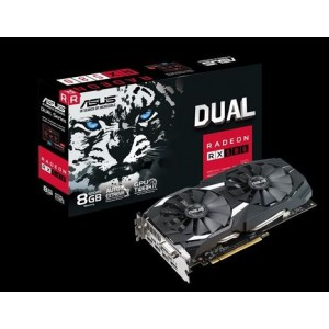 Asus DUAL-RX580-8G Radeon RX 580 8GB Dual-fan OC Edition GDDR5 DP HDMI DVI VR Ready AMD Graphics Card
