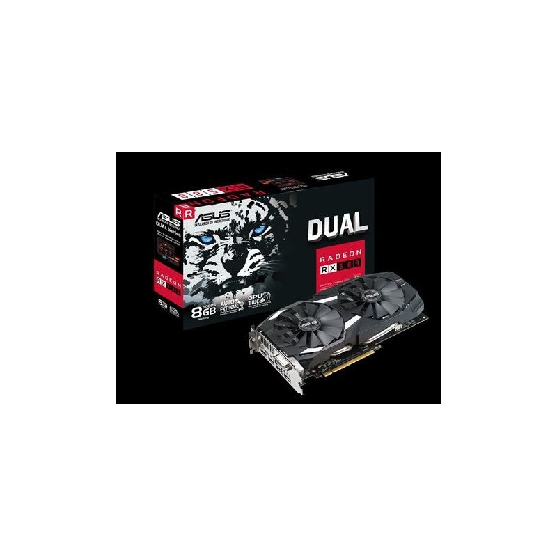Asus DUAL-RX580-8G Radeon RX 580 8GB Dual-fan OC Edition GDDR5 DP HDMI DVI  VR Ready AMD Graphics Card