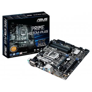 Asus PRIME H270M-PLU LGA 1151 Intel H270 HDMI SATA 6Gb/s USB 3.0 Micro ATX Motherboard