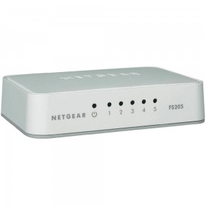 Netgear N.FS205-100PES 5 Port 10/100 Fast Ethernet Switch - Plastic case