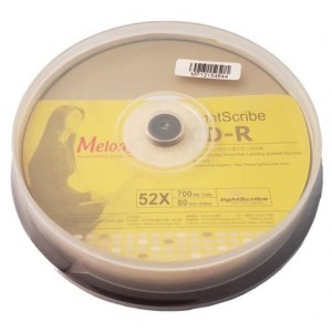 Unbranded CDRLS10MLD Melody Lightscribe 700Mb CD-R 10 Spindle CD Media