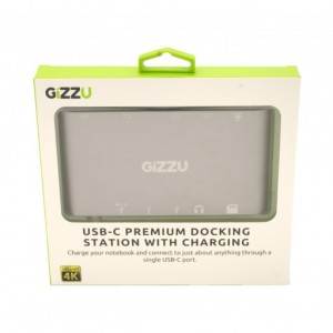 Gizzu GDUC11PD USB-C to USB3.0/Mini DP/HDMI/VGA/GBE/M SD Docking Station