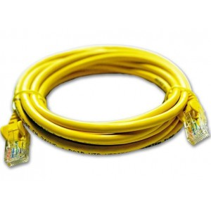 Linkbasic FLY-6-2Y  2 Meter UTP Cat6 Patch Cable Yellow