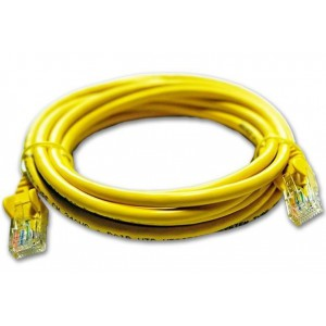Linkbasic FLY-6-5Y 5 Meter UTP Cat6 Patch Cable Yellow