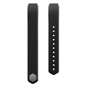 Fitbit Alta Silicon Band - Adjustable Replacement Strap - Black, Large