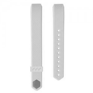 Fitbit Alta Silicon Band - Adjustable Replacement Strap - White, Large