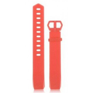 Fitbit Alta Silicon Band - Adjustable Replacement Strap with buckle - Orange, Large