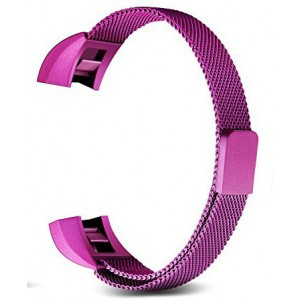 Fitbit Alta Stainless Steel Magnetic Milanese Loop Watch Strap - Purple, Small