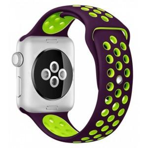 Apple Multi-colour Silicone Watch Strap 42mm-Purple Green
