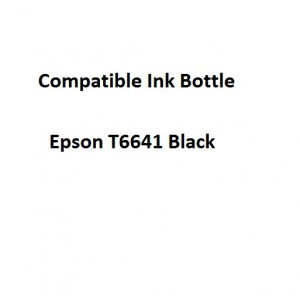 Real Color EPCOMPT6641 Epson T6641 Black 70ml Ink Bottle