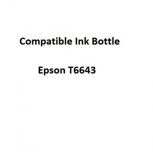 Real Color EPCOMPT6643  Compatible Epson T6643 Magenta 70ml Ink Bottle
