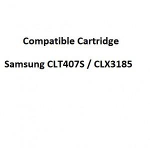 Real Color COMPCLP407M Compatible Samsung CLT407S / CLX3185 Magenta Toner Cartridge