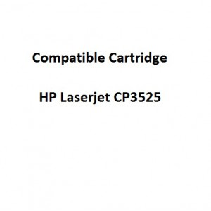 Real Color COMPCE252A Compatible HP Laserjet CP3525 Yellow Toner Cartridge