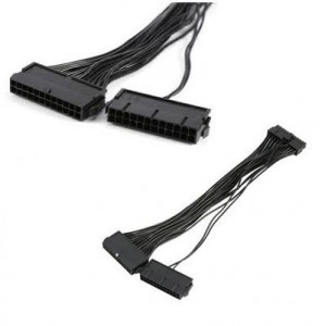 Unbranded 24PTO24X2  2x24 Pin to 1x24 Pin ATX Cable