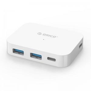 Orico TC2U-U3-WH-PRO 4 Port USB-C to 2xUSB3.0, 2xUSB-C Hub White