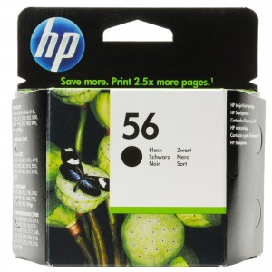 HP 56 - Black Inkjet Print Cartridge with yield of 520 pages