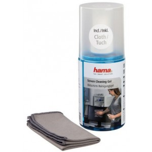 Hama 78302 Screen Cleaning Gel 200ml Pump Bottle Including a cloth