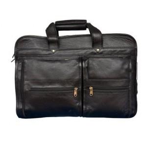 "Black NO0012-C 15.6"" Full Grain Leather Case"