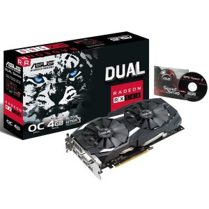 Asus 90YV0AQ0-M0NA00 Dual series Radeon RX 580 OC edition 4GB GDDR5 Graphics Card