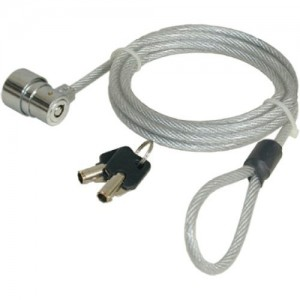 Port Designs CABCLK04 Security Cable Key 1.8m Stainless Steel Cable Lock
