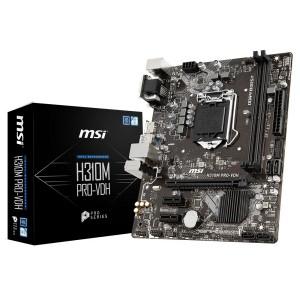 MSI MS-H310M PRO-VDH LGA 1151 (300 Series) Intel H310 HDMI SATA 6Gb/s Micro ATX Intel Motherboard